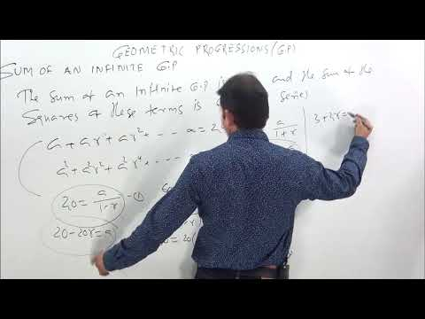 GEOMETRIC PROGRESSIONS- G.P-3  Sum Of Terms Of a GP
