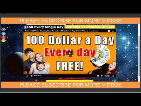 Proven Way To Earn 100$ Daily Working 15 Minutes Online