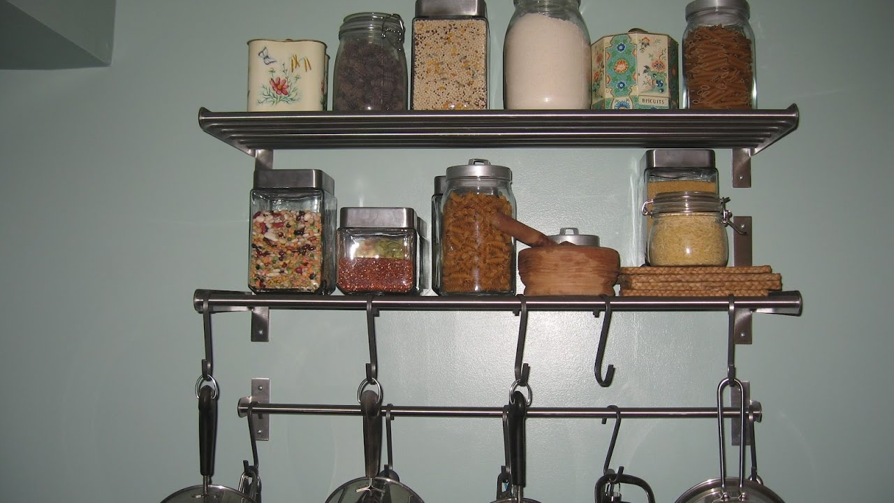 wall mounted kitchen shelves youtube - Wall Mounted Kitchen Shelf