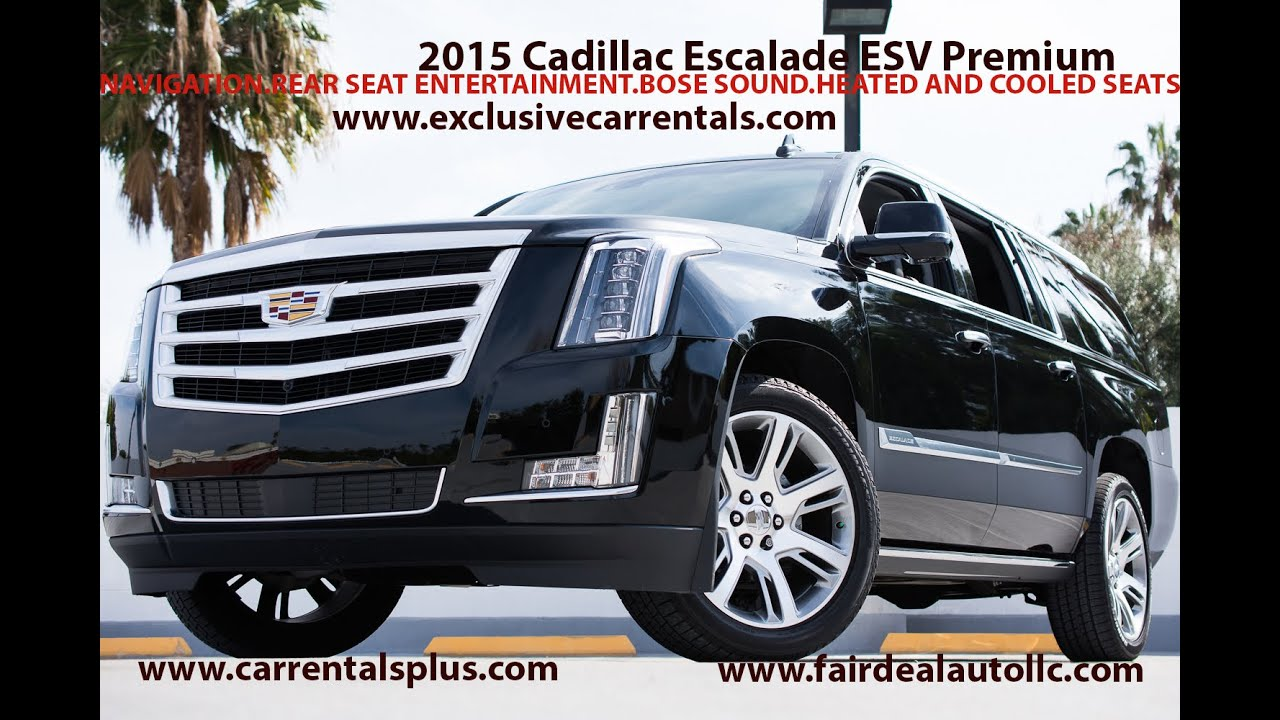 2015 Cadillac Escalade Esv Luxury Car Rental Los Angeles Youtube
