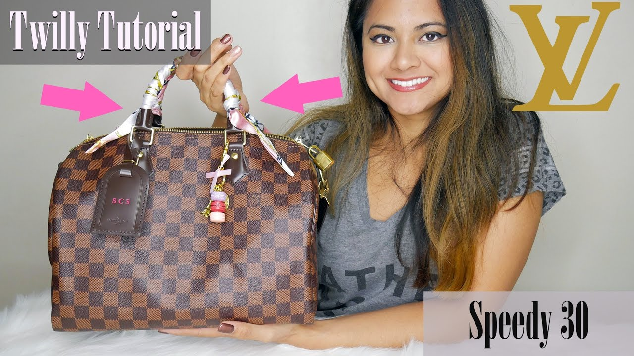 How To Tie Purse T Scarf On Louis Vuitton Sdy 30 Tutorial