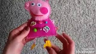 Свинка Пеппа развивающая игрушка-искалочка