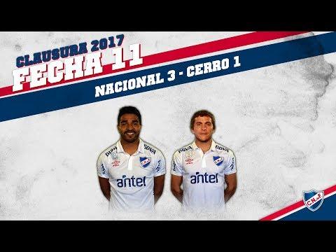 Clausura 2017 Fecha 11 / Nacional 3 - Cerro 1