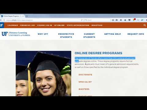 Degree For UF Online Programs 2017 | online education initiative