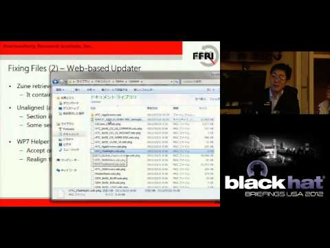 Blackhat 2012: Windows 7 Phone Hacking & Exploitation