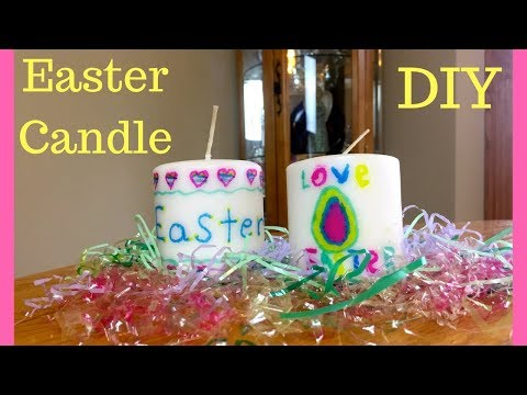 DIY Easter Candle Craft - Easy!!