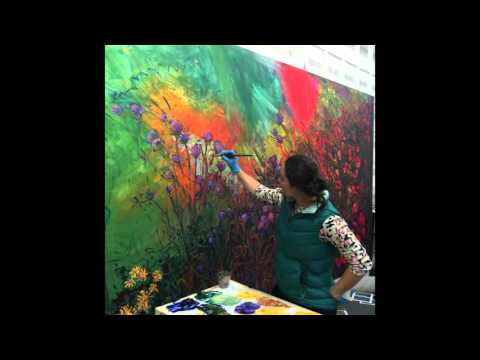 video:Field of Blooms | Contemporary Impressionism Work in Progress (Images)
