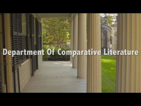 The Comparative Literature Concentration at Harvard Universi