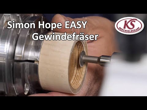 Turning a Wooden Thread - Simon Hope Easy Threading Jig | Stratos XL