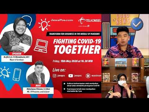 Fighting Covid-19 Diskusi bareng Walikota Surabaya Tri Rismaharini