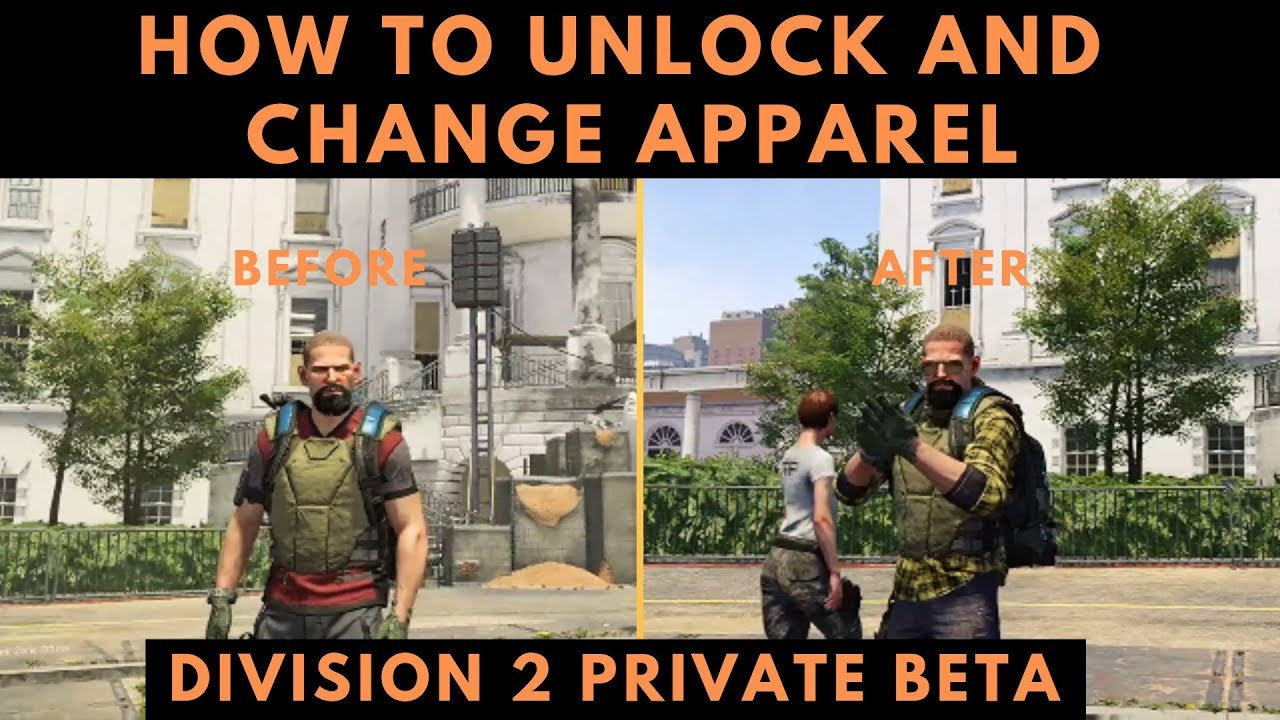 Division 2 How To Find And Change Apparel Items Tom Clancy's The Division 2  Private Beta