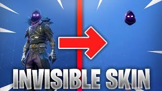FORTNITE HACKER SHOWS INVISIBLE SKIN GLITCH FORTNITE CUSTOMIZED INVISIBLE RAVEN SKIN & JETPACK FORT!