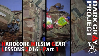 """Hardcore"" Milsim Gear Lessons 2016 #1/3: Intro, Baby Food & CP/Base Bag - DGP"