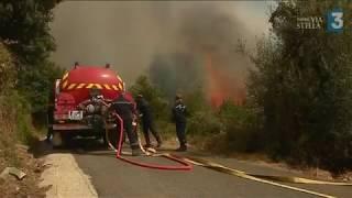 Cap Corse : l'incendie bascule sur la côte est