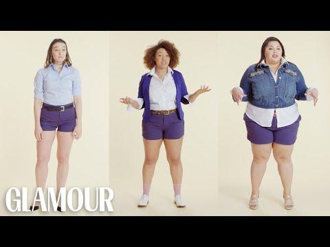 Women Sizes 0 Through 28 Try on the Same Shorts | Glamour