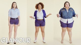 Women Sizes 0 Through 28 Try on the Same Shorts | Glamour