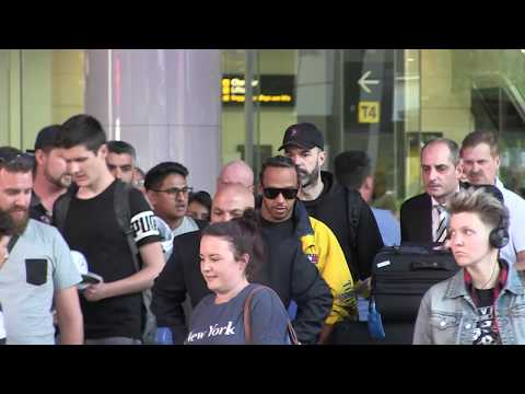 'Lewis Hamilton mobbed as he arrives in Melbourne for Albert Park Grand Prix' #15MOF Mp3