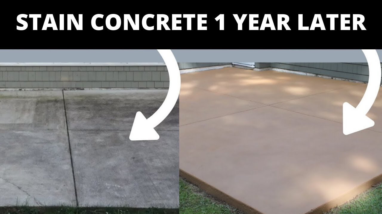 how to stain concrete simple diy method