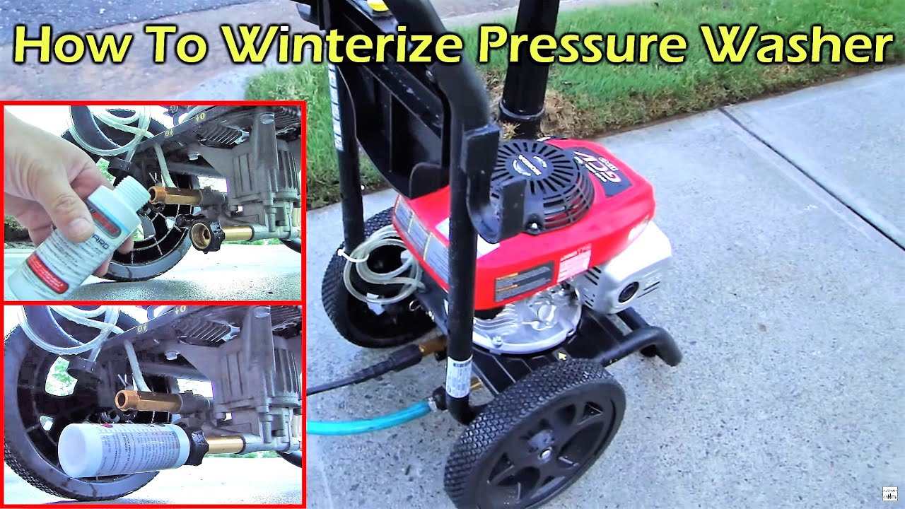 How To Prepare Your Pressure Washer For Storage