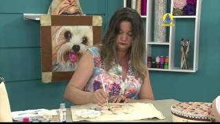 Pintura no pano de copa por Rose Ferreira