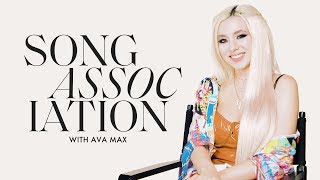 Ava Max Sings Rihanna, Taylor Swift, and Britney Spears in a Game of Song Association | ELLE
