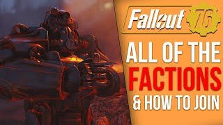 Fallout 76 - Every New Faction and How to Join Them