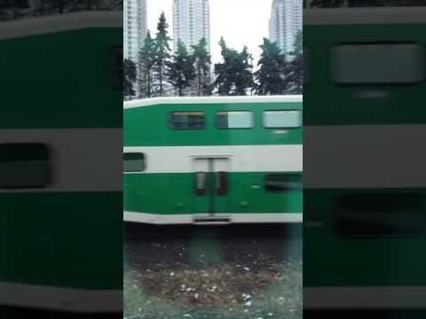 Go train time lapse Toronto. Exhibition to union