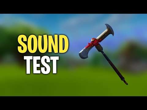 Axecalibur Sound Test (Fortnite Battle Royale)