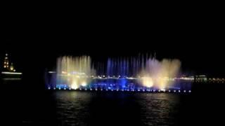 St. Petersburg Fountain on water