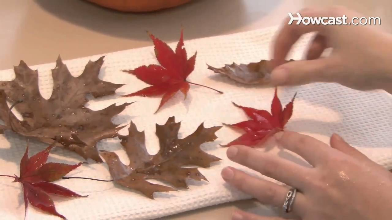 How to Make House Decorations from Autumn Leaves - YouTube
