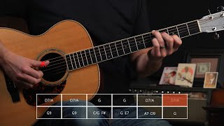 How to Play Merle Travis' Cannon Ball Rag (Section 2)