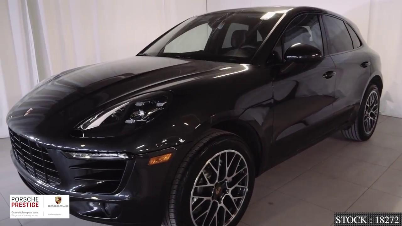 Volcano Grey On Black 2018 Porsche Macan S Youtube