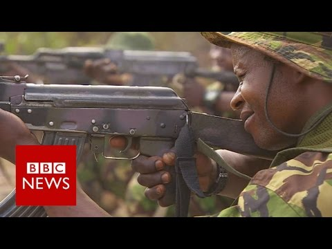 Hunting elephant poachers in Democratic Republic of Congo -