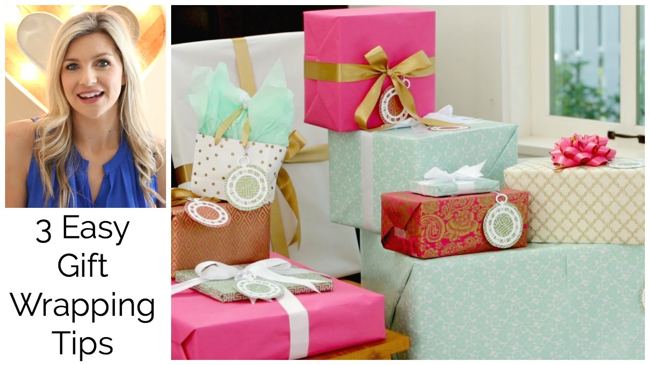 3 easy gift wraping tips bridal shower collab