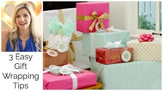 3 Easy Gift Wraping Tips: Bridal Shower Collab