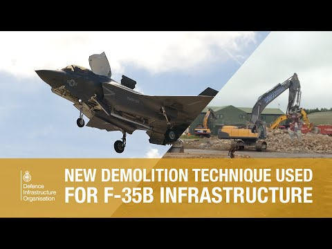 Chemical demolitions to get RAF Marham ready for F-35B fighter jets