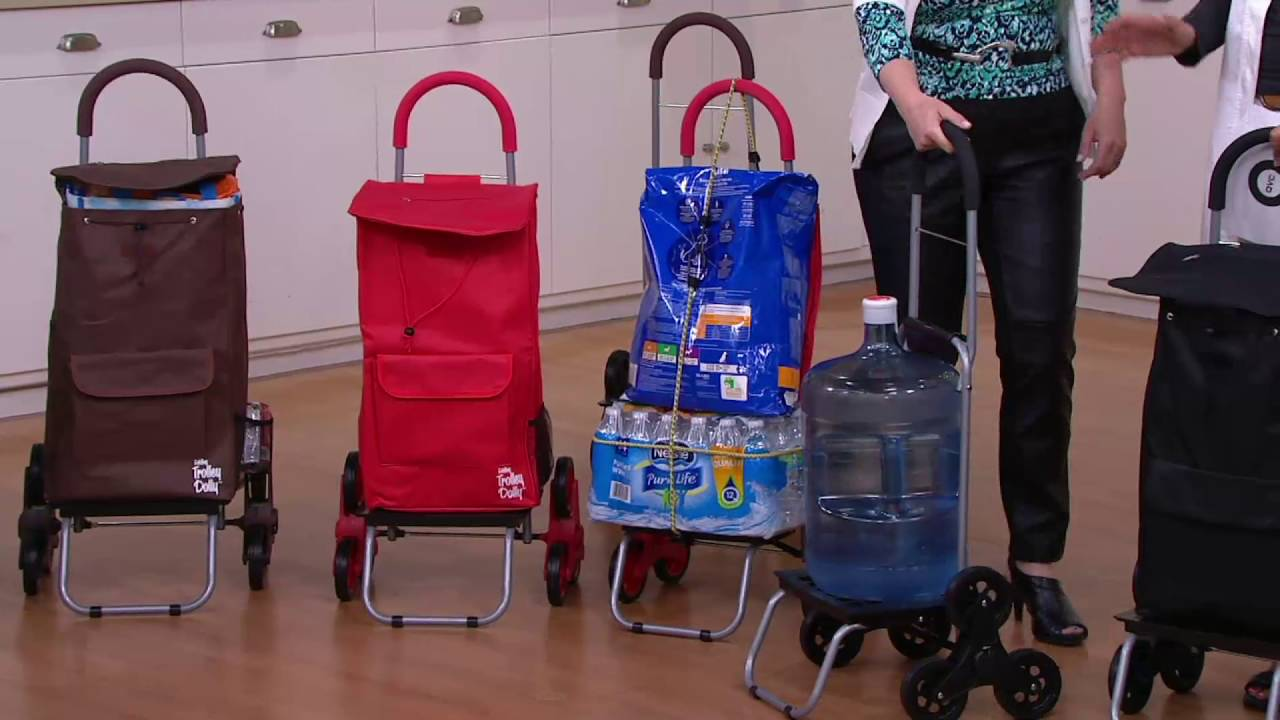 Trolley Dolly 2 In 1 Folding Cart With Stair Climbing Wheels On Qvc