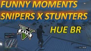 GTA V PS4 - FUNNY MOMENTS SNIPERS VS STUNTERS MELHORADO mayconcod brksdato