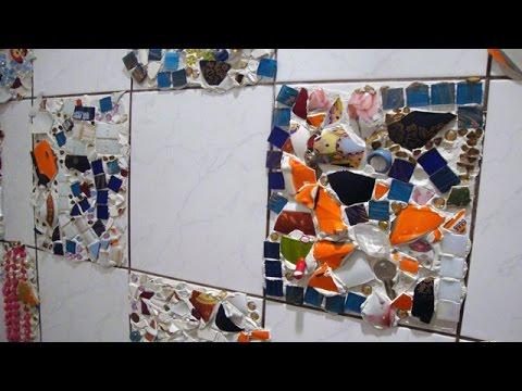 видео: Необычный декор кафеля своими руками