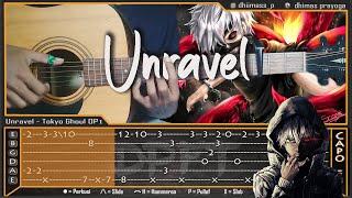 Unravel - Tokyo Ghoul OP1 [Full Version] - Cover Fingerstyle   Tab Tutorial