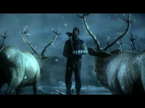 Смерть в Until dawn (дожить до рассвета) -  Мэтт атакует оленя