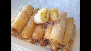 Cunto Ramadan afka kugu dilalaayo | Spring Roll stuffed with Custard