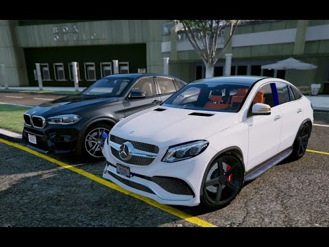 Gta V Mercedes Gle 63 Amg Coupe Vs Bmw X6m Gta 5 Mod Youtube