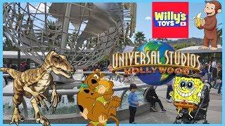 Universal Studios Hollywood Studio Tour Bus - SPONGEBOB Scooby-Doo POPPY Trolls - Willy