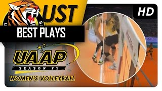 Laure went down | UST |  Best Plays | UAAP 79 WV