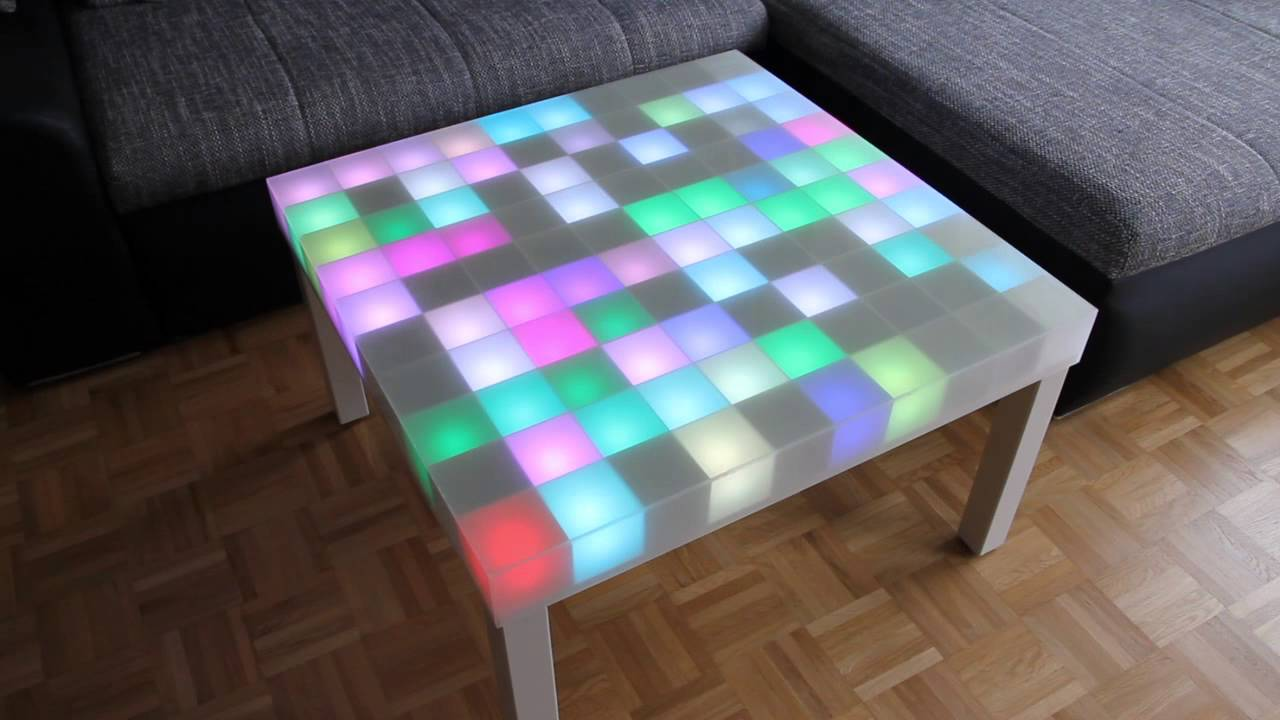 10x10 rgb led matrix tisch mit ws2801 controller youtube. Black Bedroom Furniture Sets. Home Design Ideas