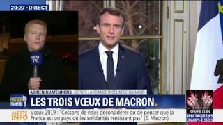 """Adrien Quatennens (FI) réagit aux """"voeux"""" de Macron"""