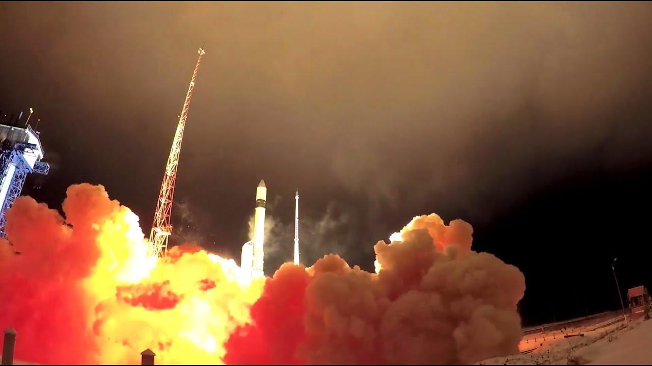 Видео старта ракеты «Рокот» с космодрома Плесецк