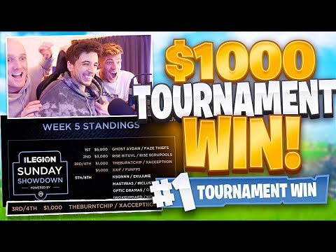 HOW I Won $1000 In A PRO Fortnite Tournament
