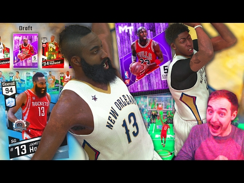 NBA 2K17 My Team CAPTAIN PACK DRAFT N' PLAY! DIAMOND HARDEN SICK TEAM!